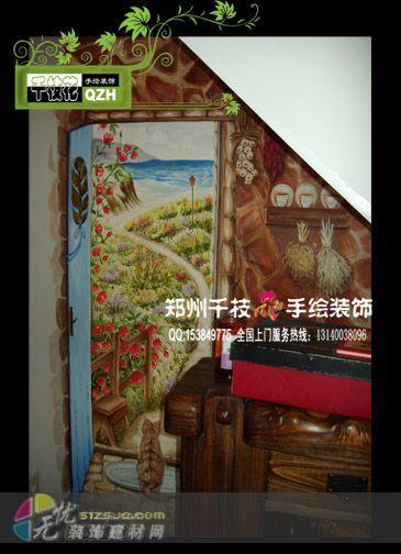 楼梯处的墙绘 郑州千枝花手绘装饰作品 家居设计图库 效果