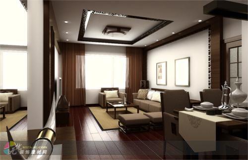 新中式风格 腾虹装饰作品 家居设计图库 效果图,实景图,样板间,建